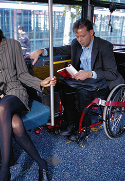 Disabled Man on Bus