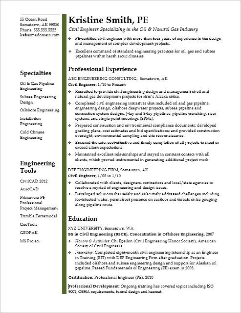 Sample Resume for a Midlevel Mechanical Designer