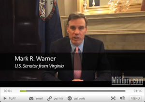 [video] Sen. Warner Talks Military.com Job Fair