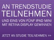 An Trendstudie Bewerbungspraxis 2015 teilnehmen und iPad Mini mit Retina Display gewinnen