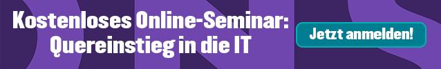 Kostenloses Online-Seminar: Quereinstieg in die IT