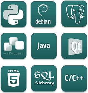 c++ cplusplus java python debian wxwidgets qt html5 sql