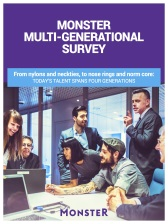 Free Download: MONSTER MULTI-GENERATIONAL WORKFORCE SURVEY