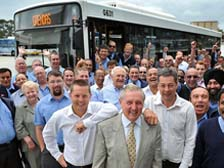 Melbourne Boss Ken Grenda and his employees
