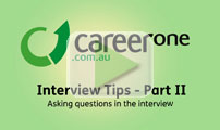 Asking questions in the interview