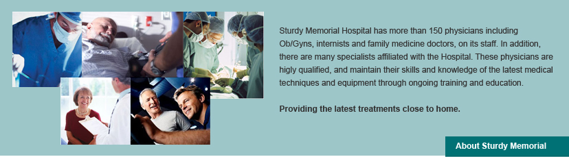 Sturdy Memorial Hospital banner