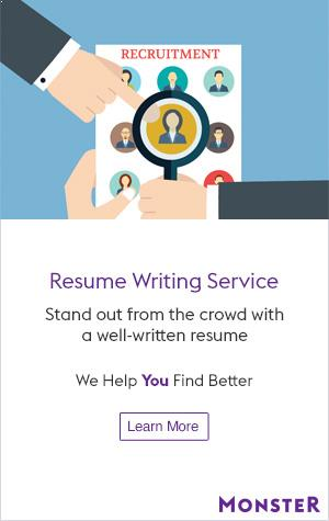 Monster Resume Writing