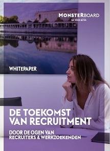 <h1><b> De toekomst van recruitment </b></h1> <h2>Door de ogen van recruiters en werkzoekenden </h2>