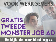 Tweede Monster Job Ad gratis
