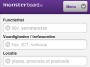 De mobiele website