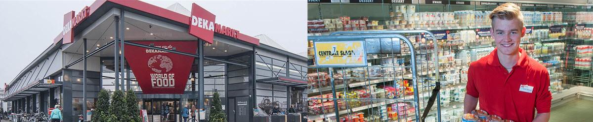 """<div class=""""content""""> <div class=""""col-md-9""""> <p>DekaMarkt bestaat uit 81 supermarkten in Noord- en Zuid-Holland, Gelderland, Overijssel en Flevoland. """"Gegarandeerd de ambachtelijke kwaliteit en persoonlijke aandacht van de vers-specialist in jouw voordelige supermarkt."""" Dat is onze ambitie. DekaMarkt is de supermarkt met Aandacht. Aandacht voor het lekkerste vers, ambacht en goede service en dat allemaal voor een verrassend lage prijs. Daarnaast willen we onze klanten elke dag inspireren met de lekkerste recept ideeën en kunnen we onze klanten alles vertellen over onze mooie producten en waar ze vandaan komen. Interactie met klanten en collega's vormt een essentieel onderdeel van onze dag en ons karakter. We zijn graag bereid te helpen of mee te denken. Kennen veel van onze klanten en telers persoonlijk. En zijn betrouwbaar. Daarom zeggen wij: Aandacht is ons Ambacht. Daarmee positioneren wij ons nadrukkelijk richting de bovenkant van de markt. Echter altijd tegen een scherpe prijs. Wij zijn de supermarkt voor klanten die lekker en goed eten belangrijk vinden en dit willen kopen in een inspirerende en persoonlijke omgeving waar ze voordelig uit zijn. De vernieuwende 'World of Food' formule is daar als vlaggenschip het aansprekende voorbeeld van.""""</p> <h3>DekaMarkt wil gewoon de beste zijn door:</h3> <ul> <li>aandacht te hebben voor ons Ambacht</li> <li>naast onze klanten onze medewerkers centraal te stellen: zij bepalen de sfeer binnen de winkel en zijn de belangrijkste spil in het totale proces</li> <li>een goede werkgever te zijn voor onze ruim 6.000 medewerkers</li> </ul> <h3>De cultuur bij DekaMarkt</h3> <p>Naast onze klanten, worden de medewerkers centraal worden gesteld. Zij bepalen immers de sfeer binnen de winkel en zijn de belangrijkste spil in onze dienstverlening. Er is ons dan ook veel aan gelegen een goede werkgever te zijn voor onze ruim 6.000 medewerkers. Collegialiteit en samenwerken bepalen daarbij de prettige werksfeer in de supermarkten. Wij vinde"""