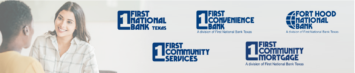Company Branding Banner First National Bank