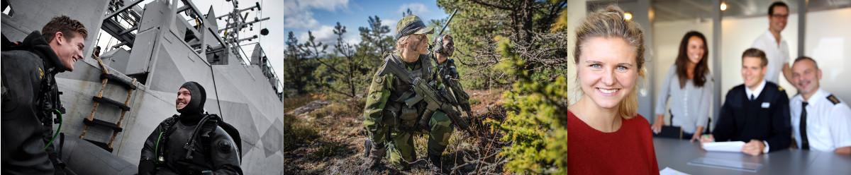 <p>Försvarsmaktens främsta uppgift är att ansvara för Sveriges militära försvar och att värna om Sverige. Det gör vi genom att öva och göra insatser dygnet runt, året runt, på marken, i luften och till sjöss. När ett behov uppstår ska Försvarsmakten vara redo att agera. Sverige hjälper också andra länder där det finns krig och konflikter.</p> <p>Att arbeta i Försvarsmakten handlar inte bara om att lösa militära uppgifter. I myndigheten finns också en stor andel civilanställda – allt från mekaniker, administratörer och tolkar till jurister, informatörer och sjukvårdspersonal.</p> <p> </p>