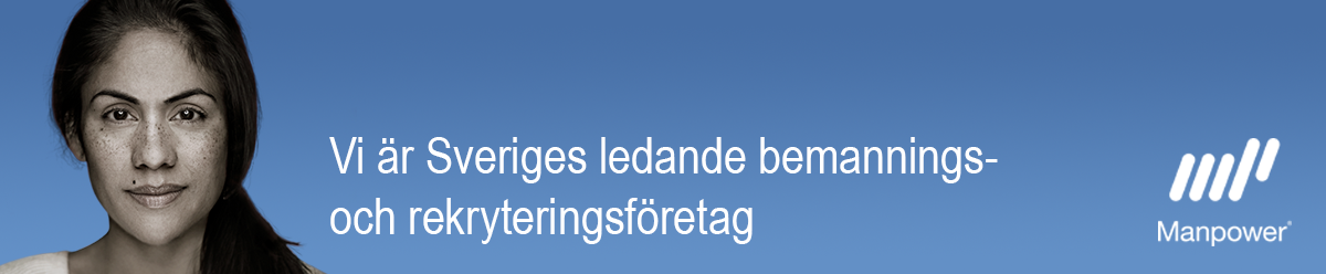 """<p>Manpower är en av Sveriges största arbetsgivare och marknadsledande inom bemannings- och rekryteringsbranschen. Vi ger dig Sveriges bredaste urval av jobb – oavsett om du vill arbeta som uthyrd eller vill bli rekryterad till ett annat företag. Bland våra kunder hittar du många av Sveriges mest attraktiva arbetsgivare och vi verkar inom de flesta branscher.</p> <p>Tillsammans med Experis, Right Management och ManpowerGroup Solutions ingår Manpower i koncernen ManpowerGroup. Vi finns i mer än 80 länder över hela världen. Genom globala insikter och lokal expertkunskap, ökar vi framgången för våra kunder. Verksamheten i Sverige genererar drygt 20.000 jobb varje år och vi finns på drygt 50 orter med 12 000 medarbetare.</p> <p>Besök vår hemsida för mer information <a href=""""http://www.manpower.se"""">www.manpower.se</a>.</p>"""
