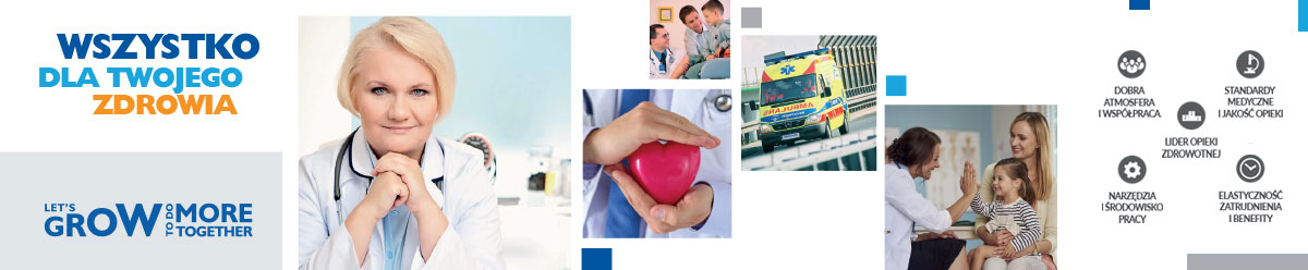 Medicover to więcej niż miejsce pracy. Medicover to przede wszystkim ludzie pełni pasji, zaangażowania, ludzie o wielkich sercach, którzy chcą w życiu czegoś więcej. Naszym celem jest poprawa i utrzymanie dobrego stanu zdrowia pacjentów. Dołącz do nas!