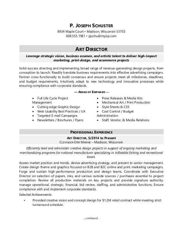 art director resume director resume sample 14249 | art director sample resume