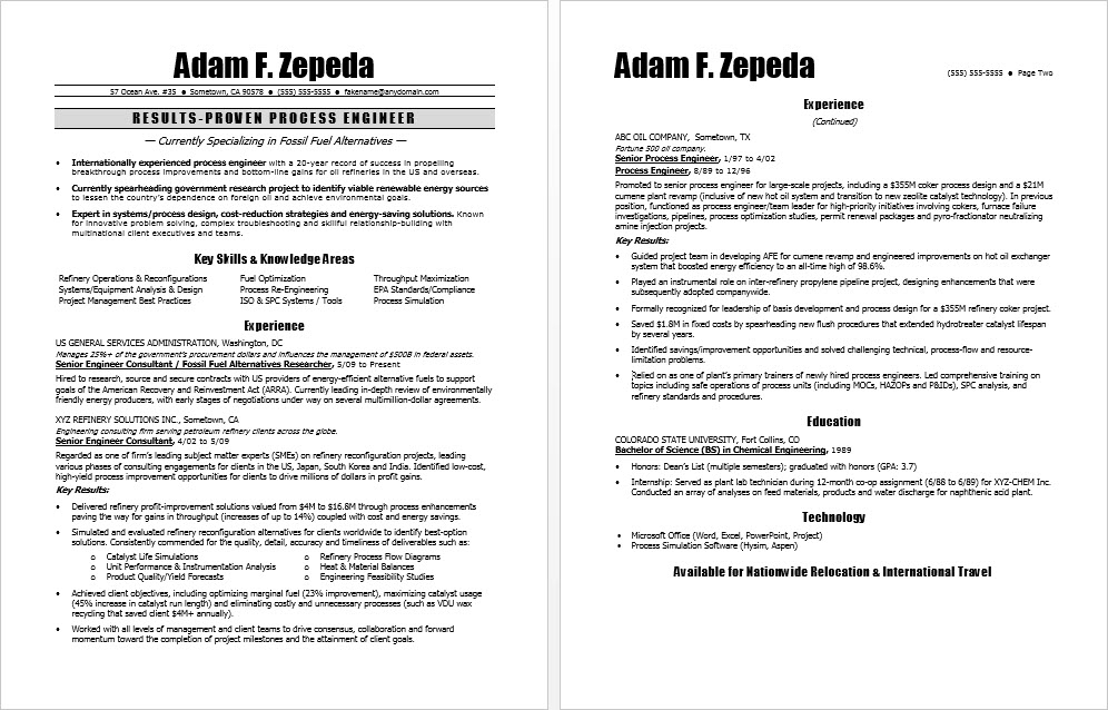 Process Engineer Resume Sample Monster Com