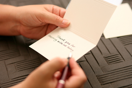 The power of a simple thank-you note