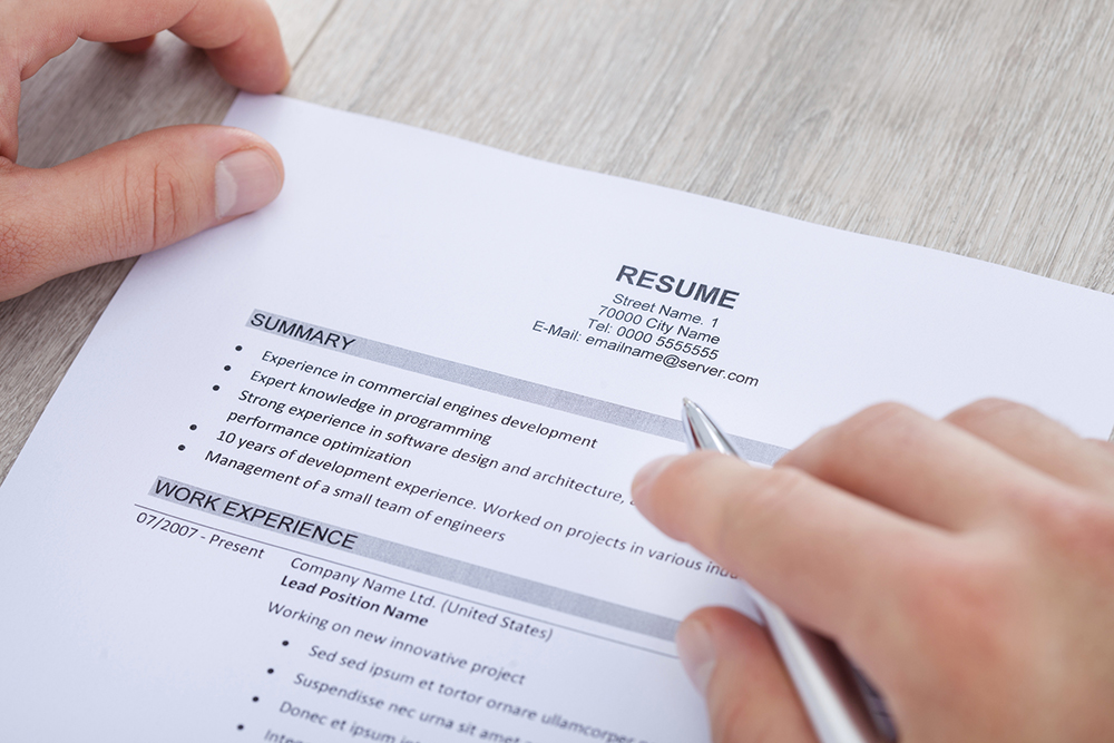 Resume writing services location