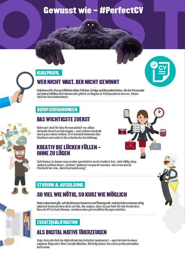 Lebenslauf Infografik #PerfectCV
