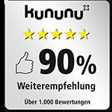 Amadeus FiRe: Bewertung auf Kununu : 90%