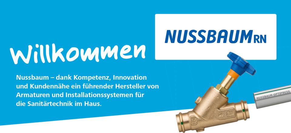 Willkommen - Nussbaum - dank Kompetenz, Innovation und Kundennähe ein führender Hersteller von Armaturen und Installations systemen für die Sanitärtechnik im Haus.