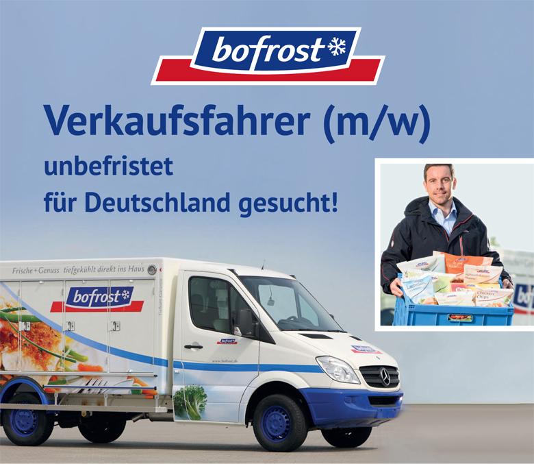 Verkaufsfahrer (m/w) in Festanstellung fur Deutschland gesucht!