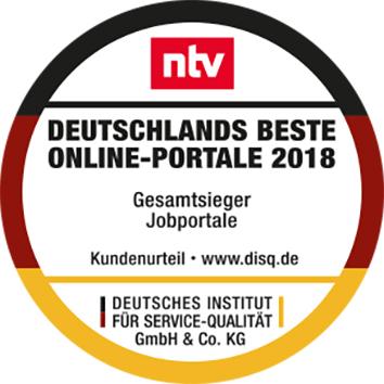 "Monster - Siegel ""Gesamtsieger Jobportale"" aus dem Test Deutschlands beste Online-Portale 2018"