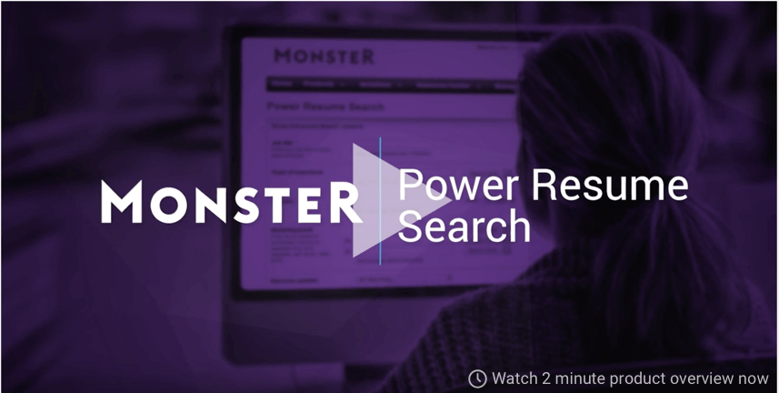 monster power resume search